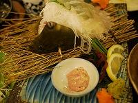 長崎の晩ご飯はカワハギのお刺身です